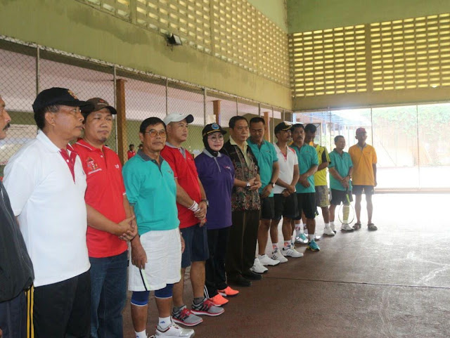 Pererat Silaturahmi Muspida Kediri Dengan Tennis Bersama