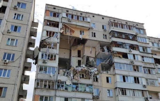 Hatalmas gázrobbanás történt egy kijevi sokemeletes házban