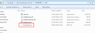 twrp recovery file into the ADB kit folder