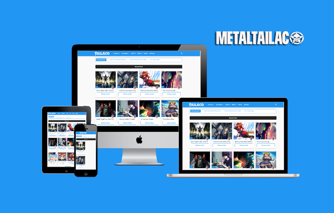 New Masign Responsive Blogger Template