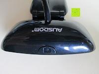oben: AUSDOM® AW310 720P USB 2,0 HD Webcam Kamera mit eingebautem Mikrofon für PC, Laptop Schwarz