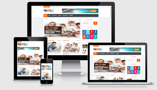 News 52 Newspaper Magazine Blogger Template