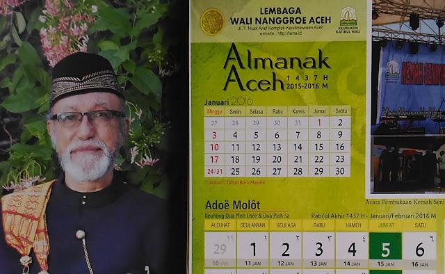 Lembaga Wali Nanggroe Luncurkan Kalender Aceh