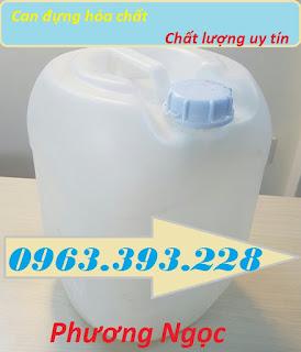 Can nhựa đựng hóa chất, can nhựa HDPE 20L, can nhựa vuông tròn màu trắng 78994e56093bee65b72a