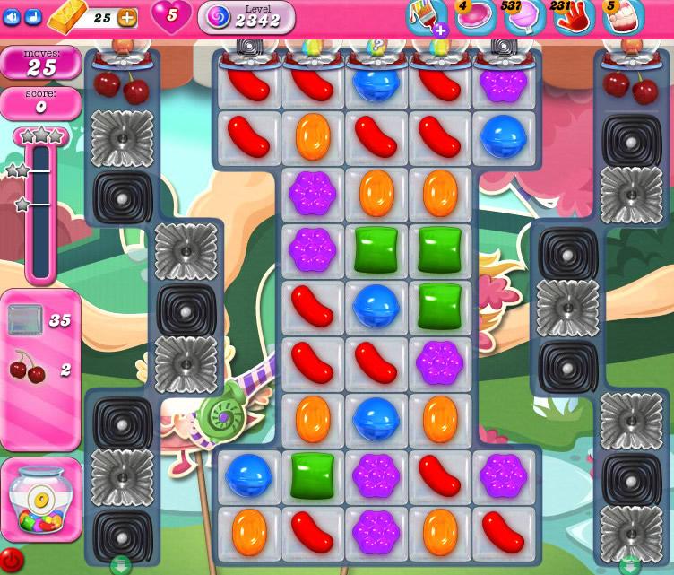 Candy Crush Saga level 2342