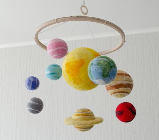 Çocuk Odası İçin El Yapımı Tavan Süsleri