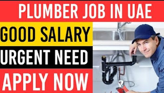 Direct Job Recruitment For Plumber in Al Ain Farms Dairy Company in UAE  | Good Salary, OT, Accommodation, Air Ticket, Visa, Insurance will be provided by the company