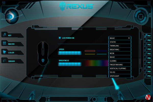 Rexus TX9 Titanix LED MODE
