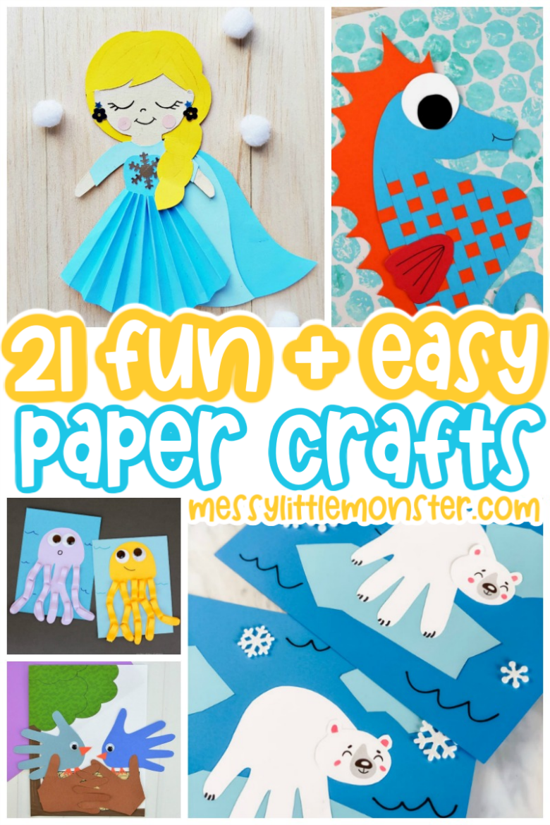 fun and easy paper crafts for kids