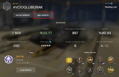 World of Tanks Blitz'de Kullanıcı Adı Değiştirmek