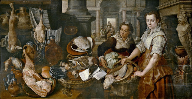 J. Beuckelaer, Christ in the House of Martha and Mary (1568)