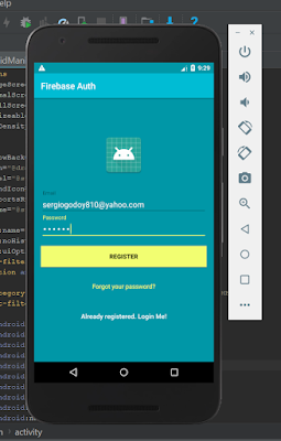 Android Studio - Login Authenticate Firebase