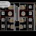 مخطط مشروع عمارة سكنية بأربعة طوابق 4 اوتوكاد dwg