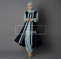 setelan muslim melva blue