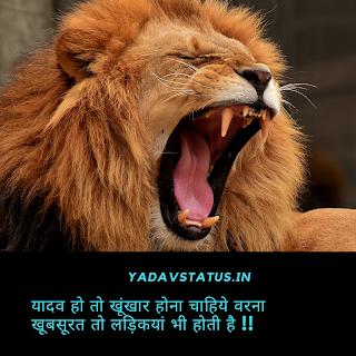 Yadav ahir attitude status and shayari