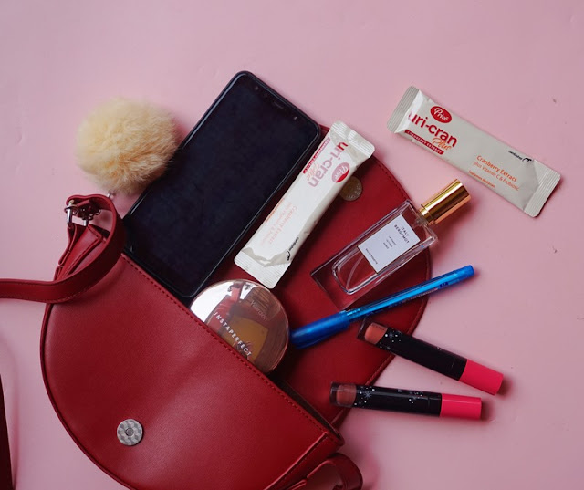 flatlay, on my bag, prive uricran