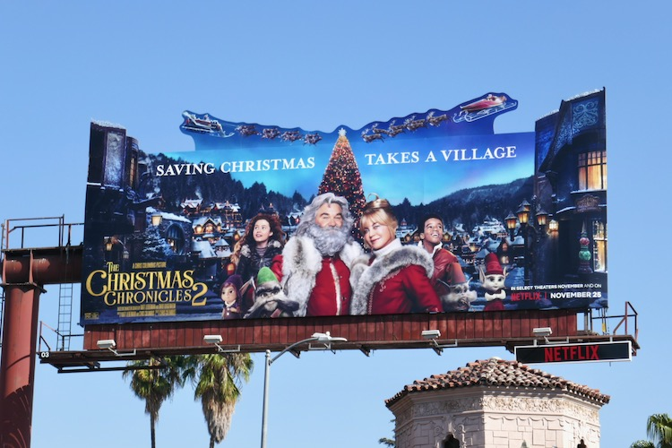 Christmas Chronicles 2 extension billboard