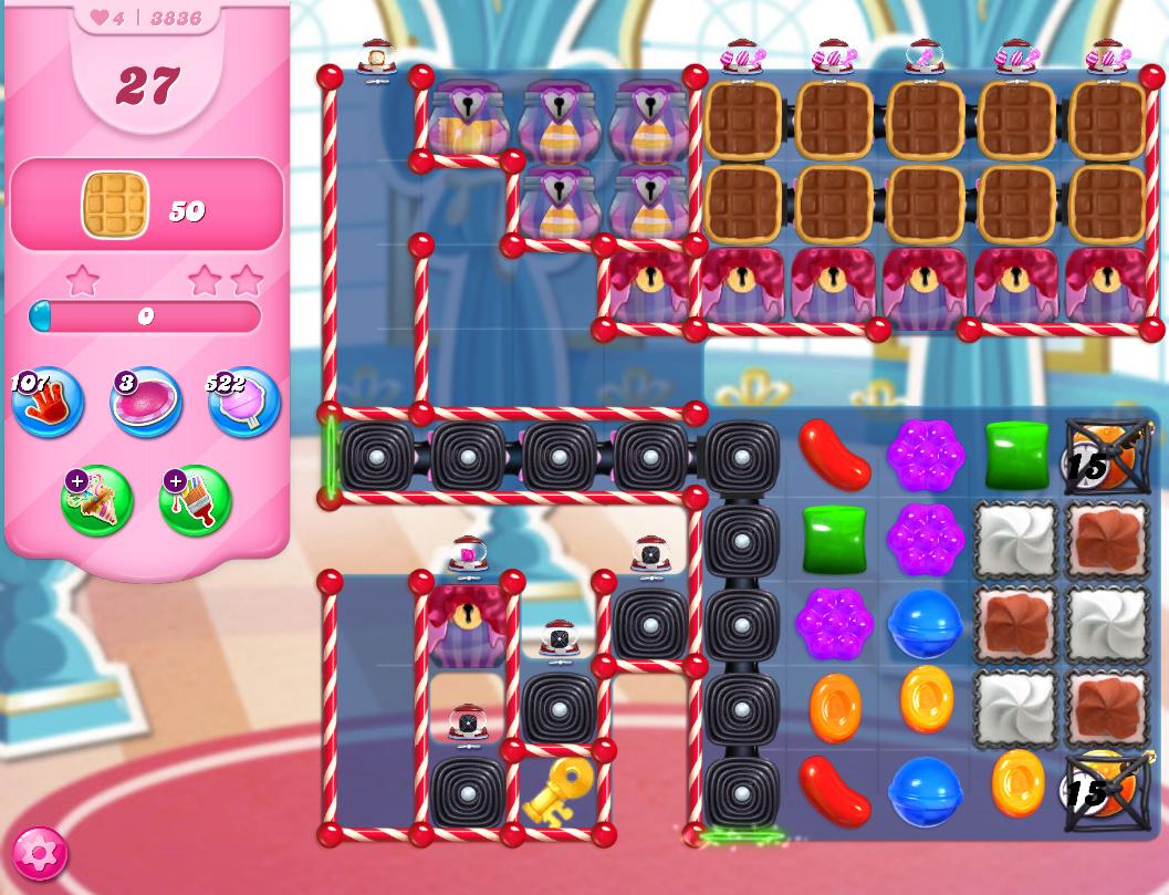 Candy Crush Saga level 3836