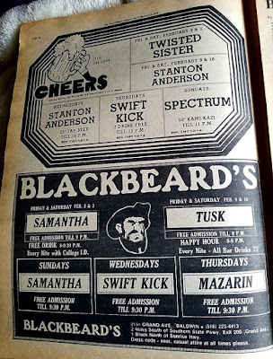 Cheers and Blackbeard's rock clubs