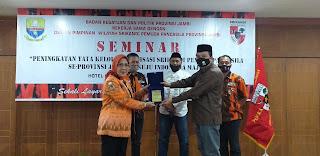 Kaban Kesbangpol Provinsi Jambi Secara Resmi Membuka Seminar DPW Srikandi Pemuda Pancasila.