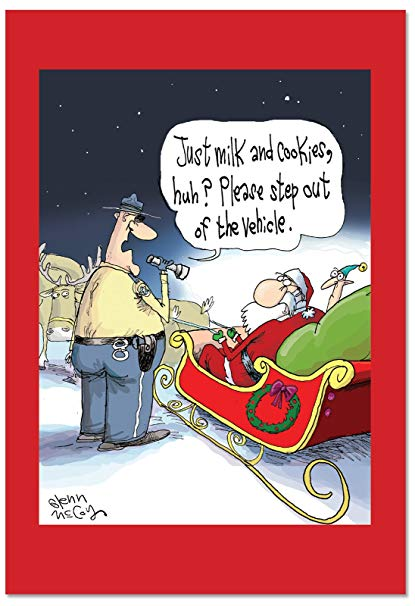 Happy Holidays with Santa Claus and Police Officer - Just to funny #JOKES