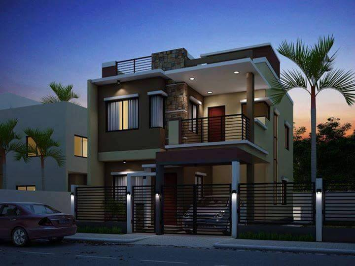 Two floor houses with 3rd floor serving as a roof deck for Two storey residential house floor plan
