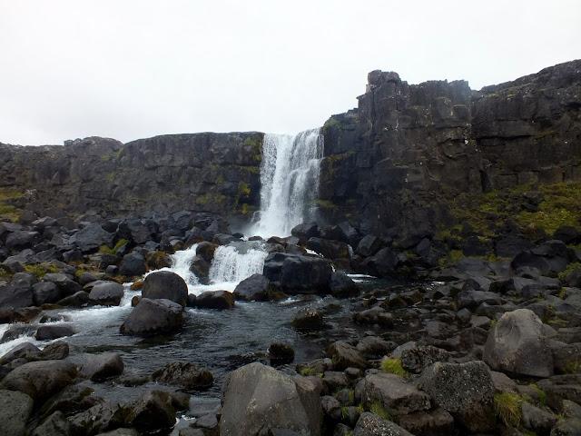 Oxarafoss en Islandia Círculo de Oro