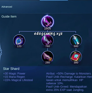 penjelasan lengkap item mobile legends item star shard