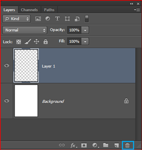 delete selected layer