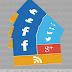 اضافة ازرار المواقع الاجتماعية بشكل ميترو