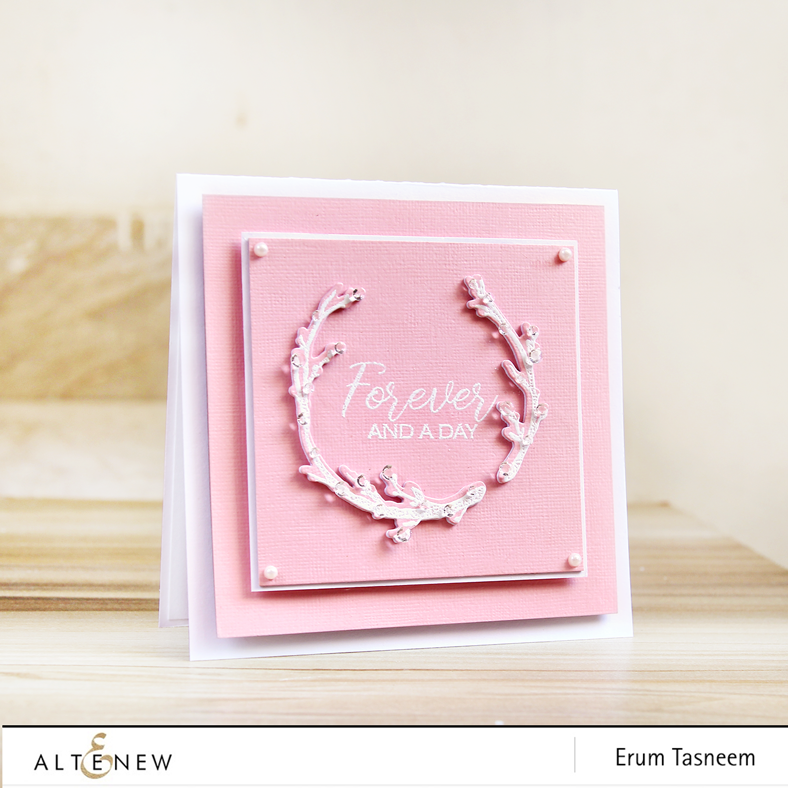 Altenew Forever and a Day Stamp and Die Set | Erum Tasneem | @pr0digy0