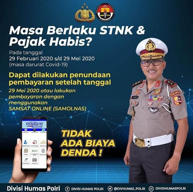 Info Pajak STNK Selama Pandemi Covid 19