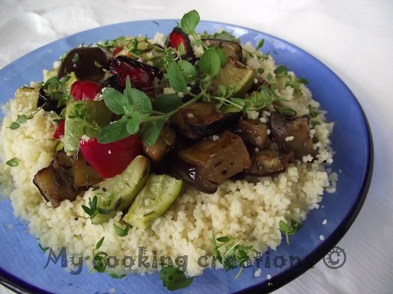 Кус кус с печени зеленчуци * Cous Cous con verdure grigliate