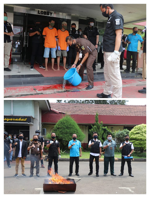 Berantas Narkoba, Polres Tangerang Kota Musnahkan 6 Kg Sabu dan 299 Butir Pil Ekstasi