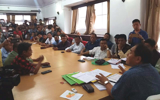 Morcha union deputation to Cinchona director Dr Samuel Rai