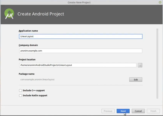 Android Studio : Belajar Linear Layout Vertical dan Horizontal Komponen