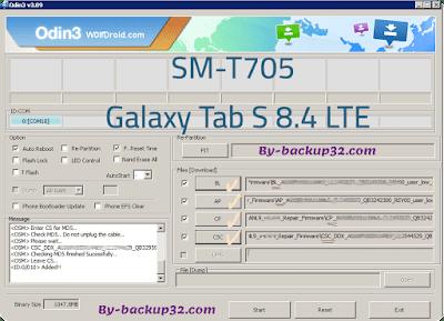 سوفت وير هاتف Galaxy Tab S 8.4 LTE موديل SM-T705 روم الاصلاح 4 ملفات تحميل مباشر