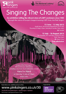 Singing the Changes exhibition poster