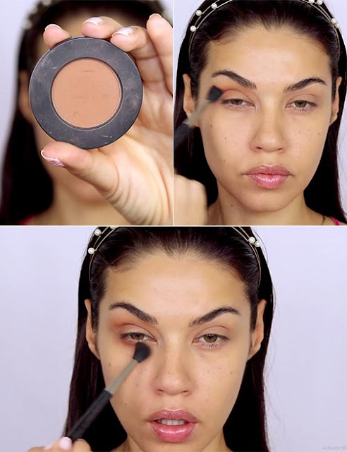 apply eye shadow