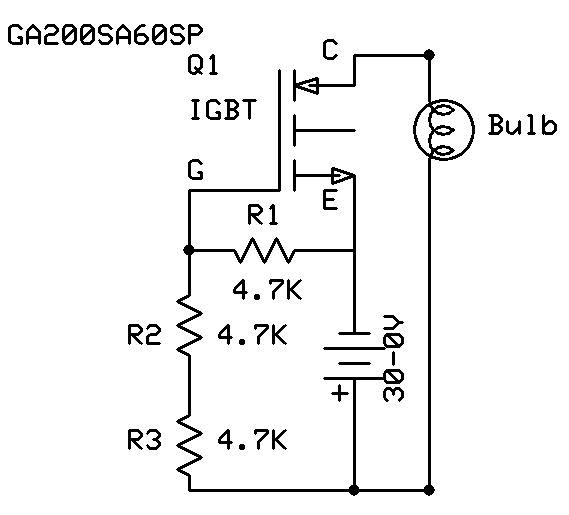 important igbt test circuit