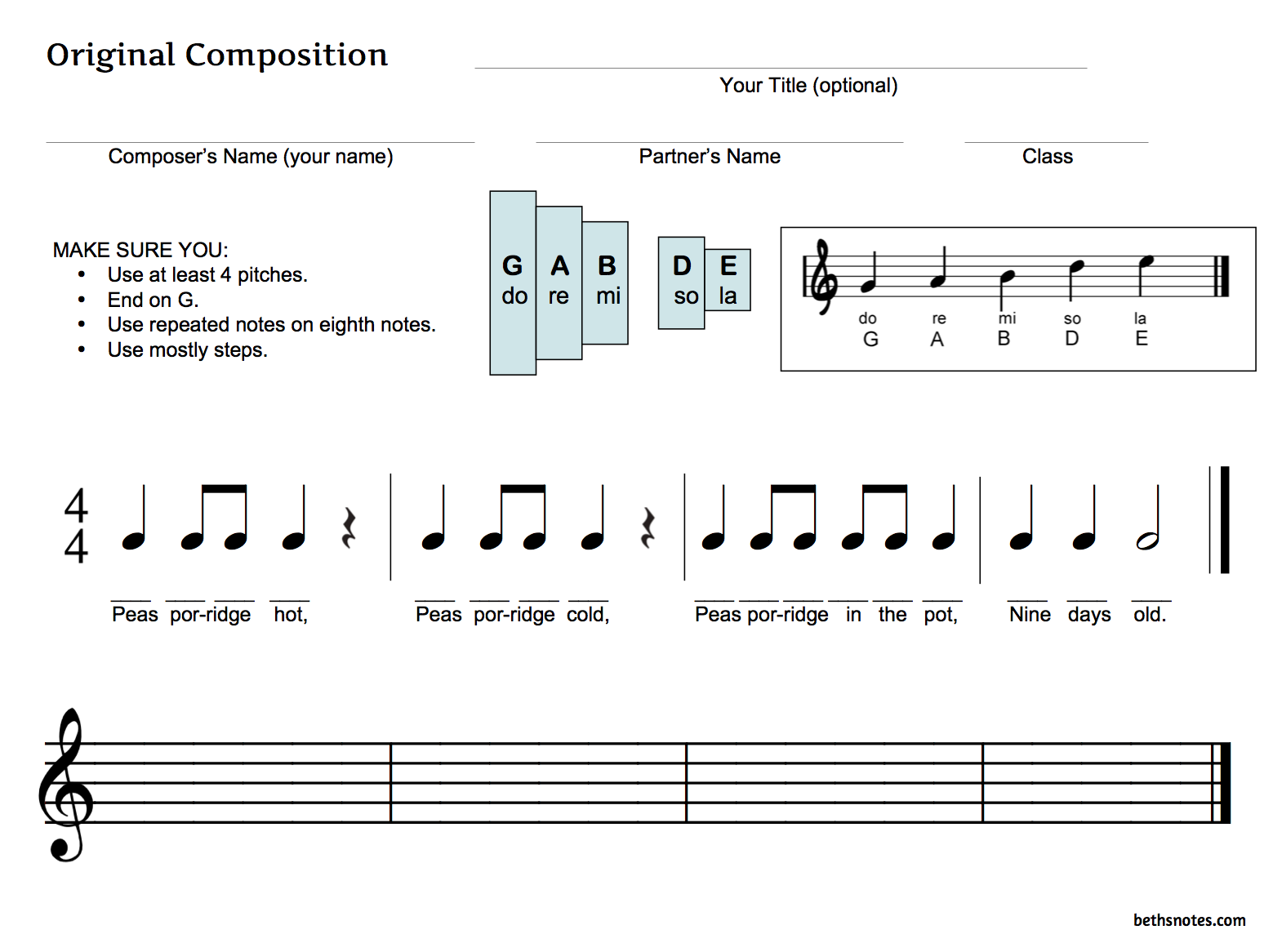 Teaching Composition 3rd Grade