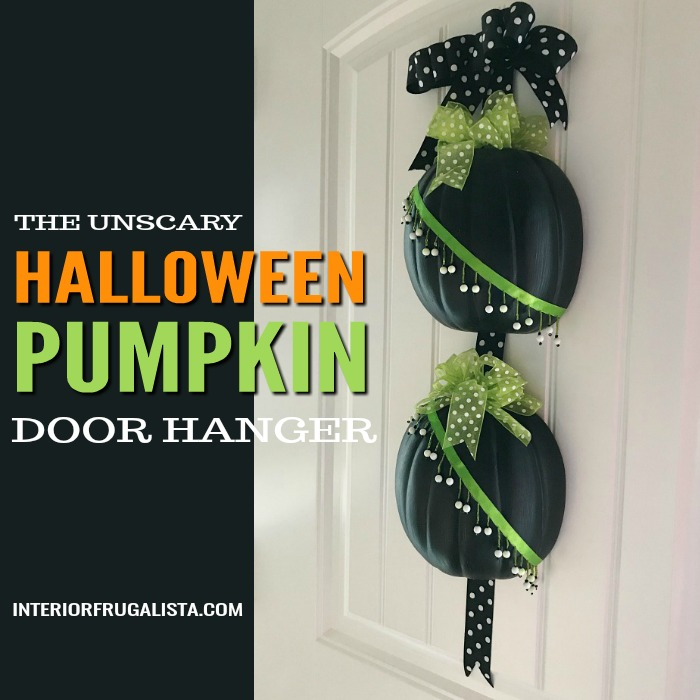 Unscary Halloween Pumpkin Door Hanger