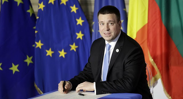 Politics: Prime Minister  of Estonia,Juri Ratas announced he was resigning due to a corruption scandal