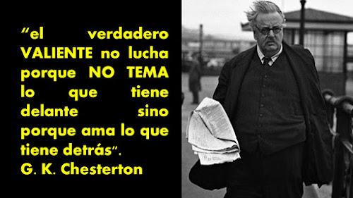 Parafraseando la frase de Chesterton