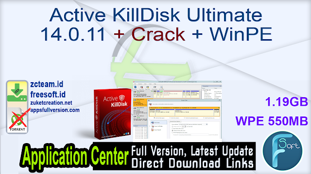 Active KillDisk Ultimate 14.0.11 + Crack + WinPE_ ZcTeam.id