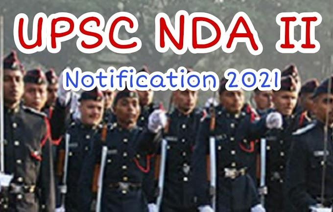 UPSC NDA II Recruitment 2021 Apply Online