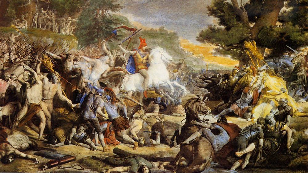 Arminio en la batalla de la Muralla Angrivariana
