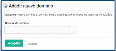 Añadir nuevo dominio