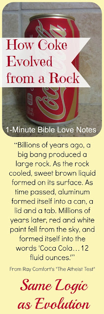 Evolution, Creation, Coke, Ray Comfort