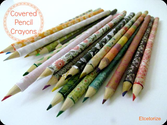Mod Podge Pencil Crayons, Decorative Crayons, DIY Pencils, Covered Pencils, Easy Mod Podge